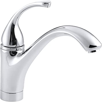 Kohler 10415 Cp Forte R Single Hole Sink 9 1 16 Spout Kitchen Faucet Polished Chrome Touch On Kitchen Sink Faucets Amazon Com