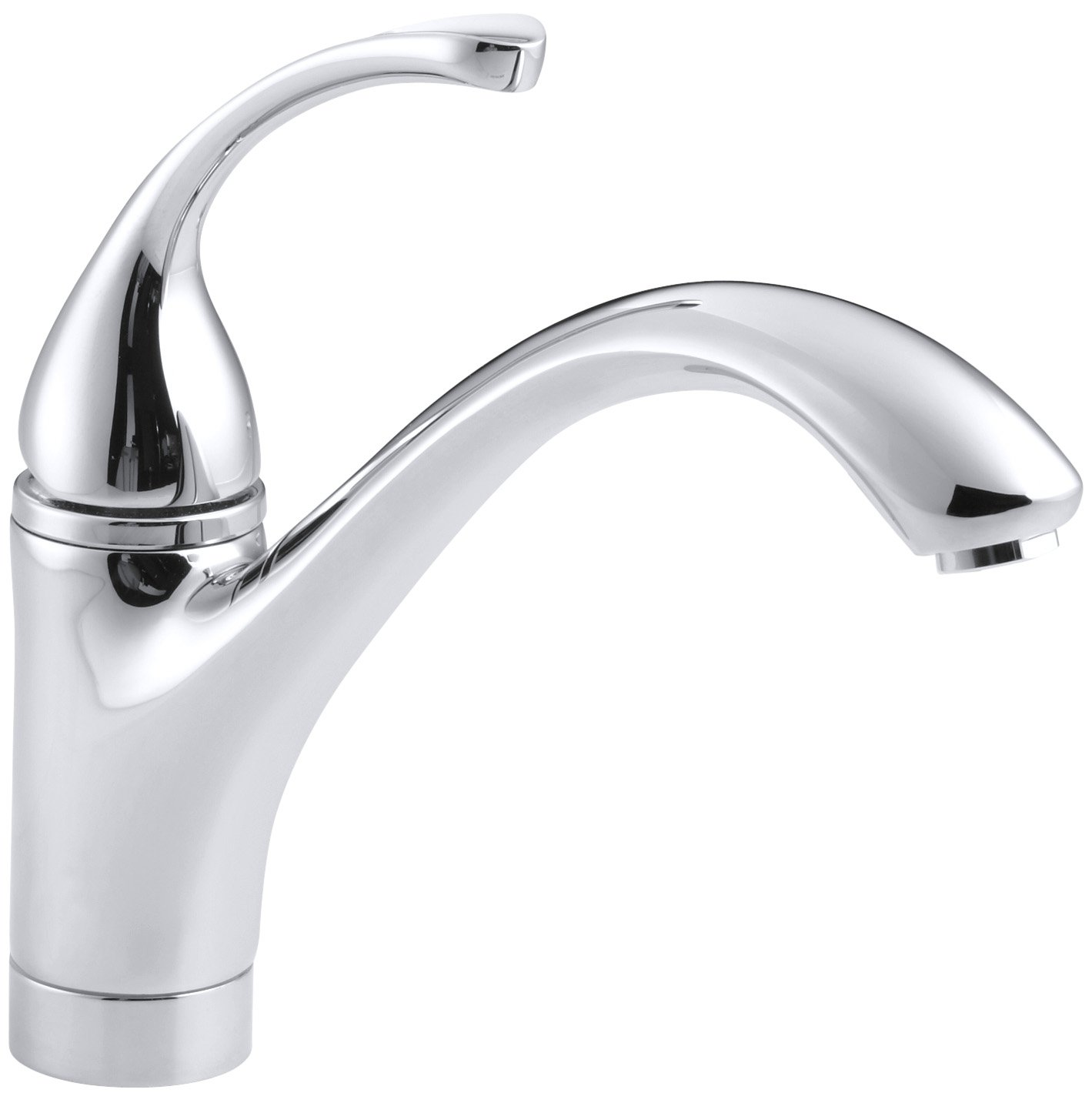KOHLER K-10415-CP Forte Single Control Kitchen Sink Faucet with ...