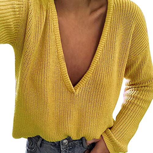 Chemise Hiver Haut Top Longue Sweater Cebbay Sweatshirt Manche Pullover Chaud Boho Sweat T Femme Bear Pull Blouse Loose Jaune Automne Cardigan Manteau and Shirt zd1x6dR