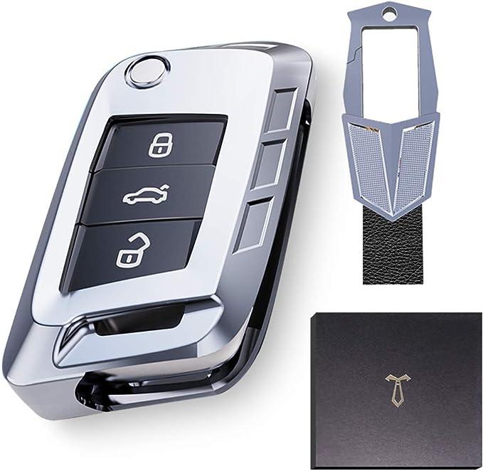 Autoschlüssel Hülle Kompatibel Mit Vw Vw Golf 7 Schlüsselbox Hochwertige Verpackung Aus Zinklegierung Schlüsselhülle Cover Schlüsselbund Bekleidung