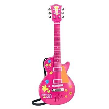 Guitarra de la Roca Rosa Bontempi iGirl electrónico con la Roca Suena Whammy Efecto de la Edad de 3 años: Amazon.es: Juguetes y juegos