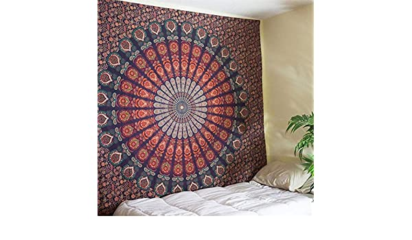 Amazon.com: Batop Hot New Indian Mandala Tapestry Hippie Home Decorative Wall Hanging - Bohemia Beach Mat Yoga Mat Bedspread Table Cloth (210x148cm) (K22): ...
