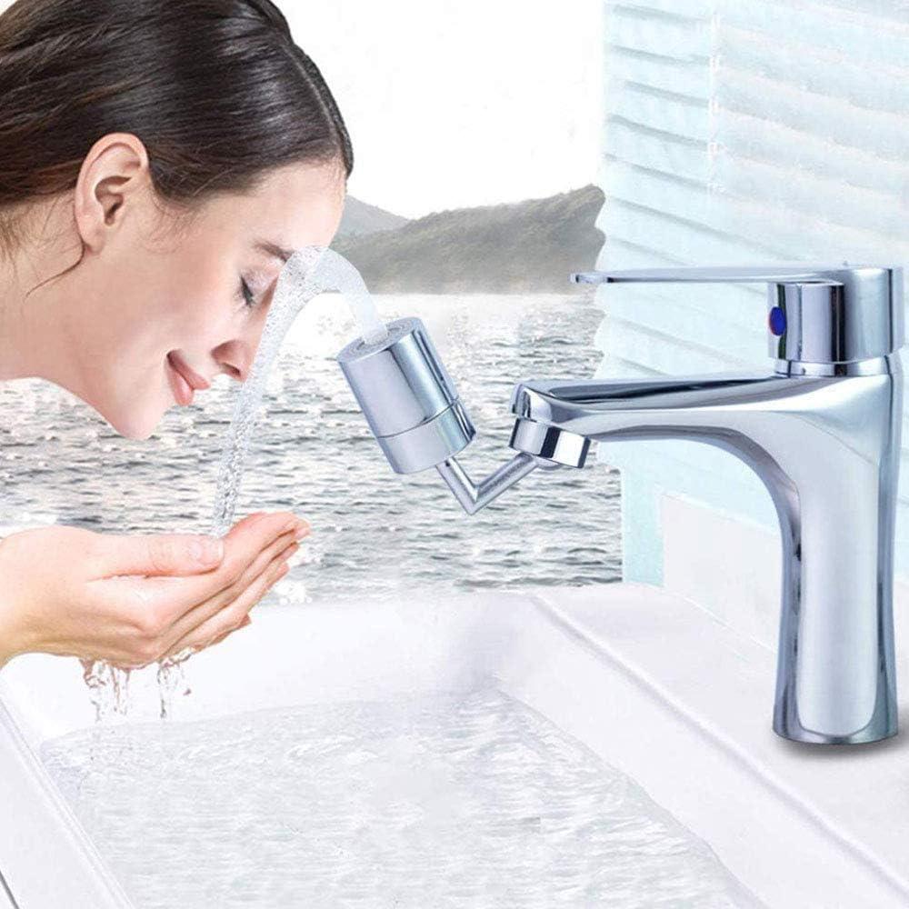 M/ás Conveniente Para Lavar La Cara Y Hacer G/árgaras Grifo De Salida De Agua Giratorio De 720 /° Grifo De Filtro De Salpicaduras Universal