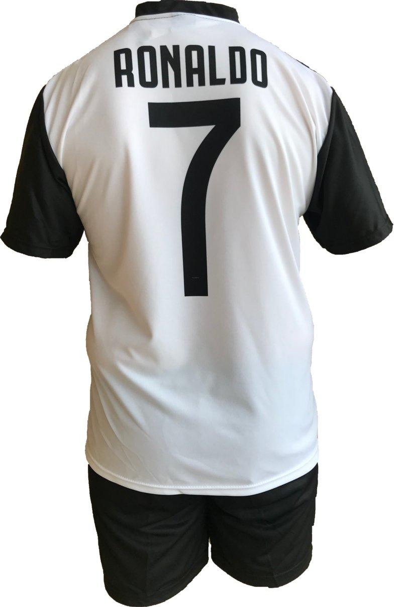 Conjunto Equipacion Camiseta Pantalones Futbol Juventus Cristiano Ronaldo 7 CR7 Replica Oficial Autorizado 2018-2019 Niños (2,4,6,8,10,12 año) Adultos ...