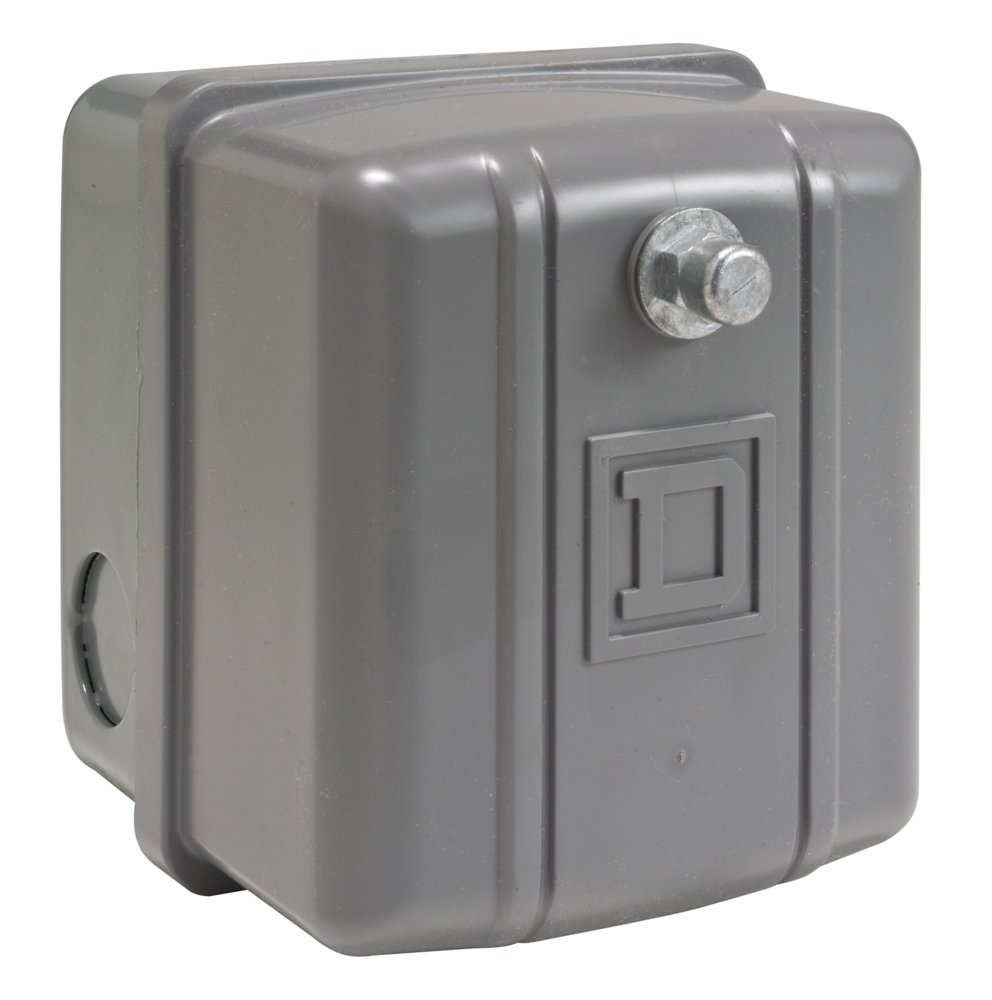 Square D by Schneider Electric 9013GHG2J57X Pressure Switch, 200/250 psi Sensor, NEMA 1 Enclosure, 1/4'' NPSF, 120-150 psi Points, 2-Way Pressure Release Valve