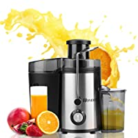 Homdox Juicer Machine, Power Fruit Juicer 350W Centrifugal Juice Extractor with Jug - Juicer Machine Blender to Make Delicious Apple |Orange | Carrot juicer and More- Stainless Steel