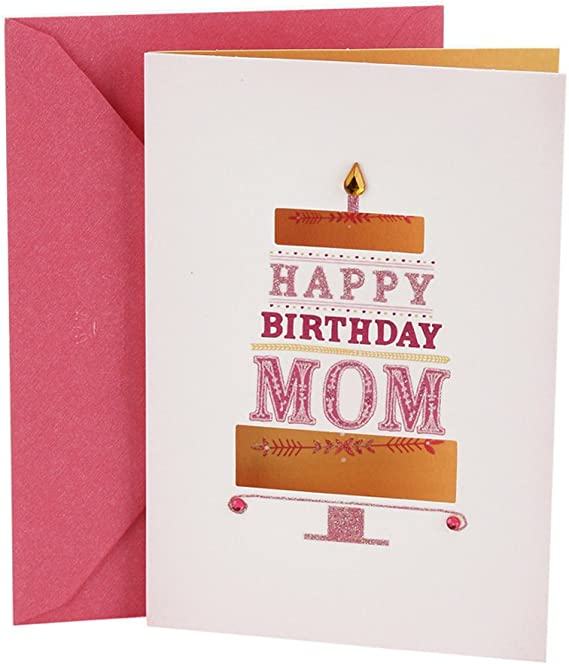 Amazing Wife Birthday Card Gold glitter Pink Envelope Greeting Card