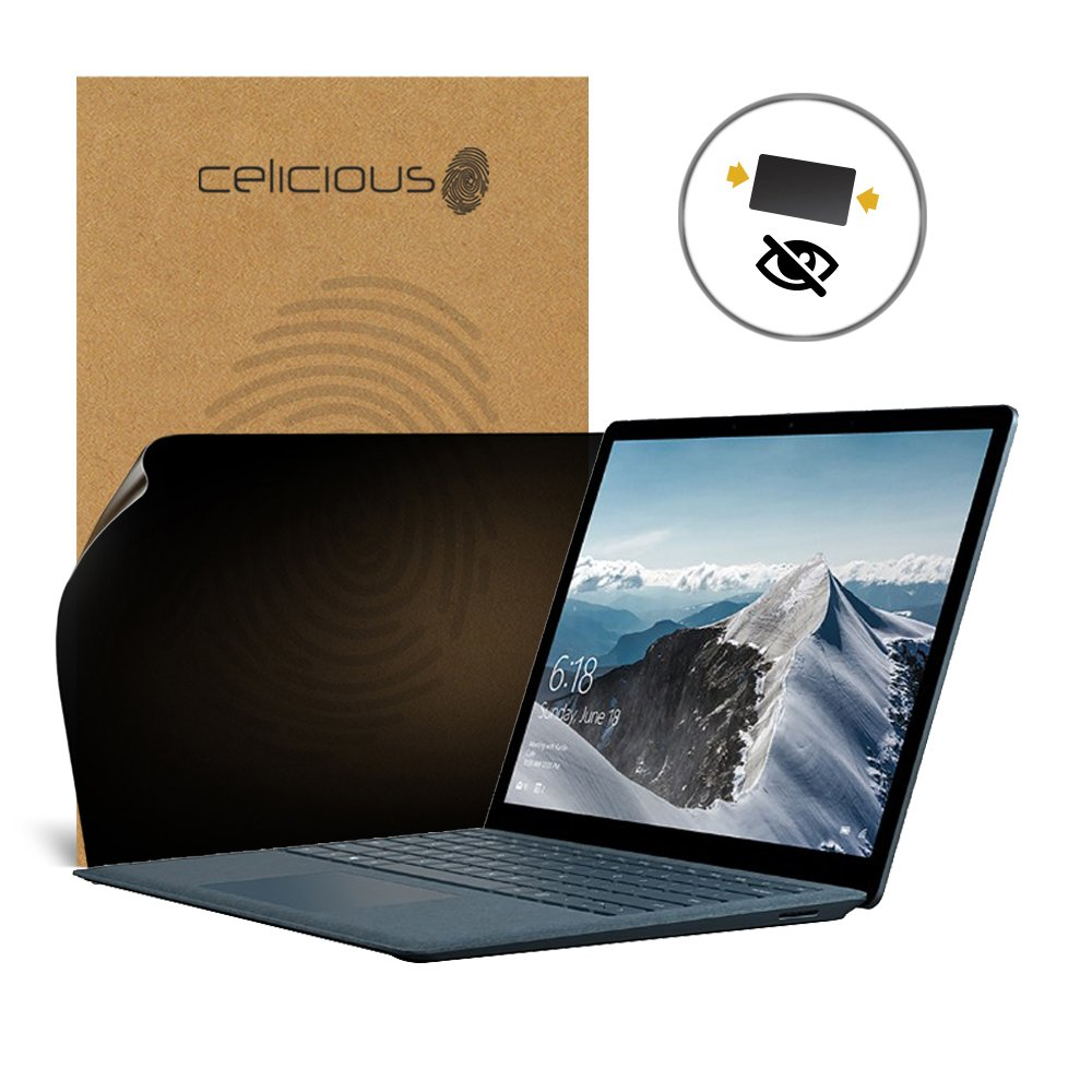 Celicious Privacy 2-Way Anti-Spy Filter Screen Protector Film Compatible with Microsoft Surface Laptop