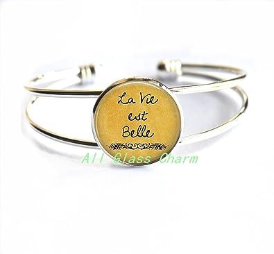 Amazon Com Charming Bracelet La Vie Est Belle Life Is