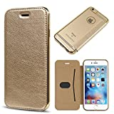 Classico New Luxury Fancy Lightweight PU Leather Back Side Soft Transparent Flip Case Cover For Iphone 5 SE 5G 5S
