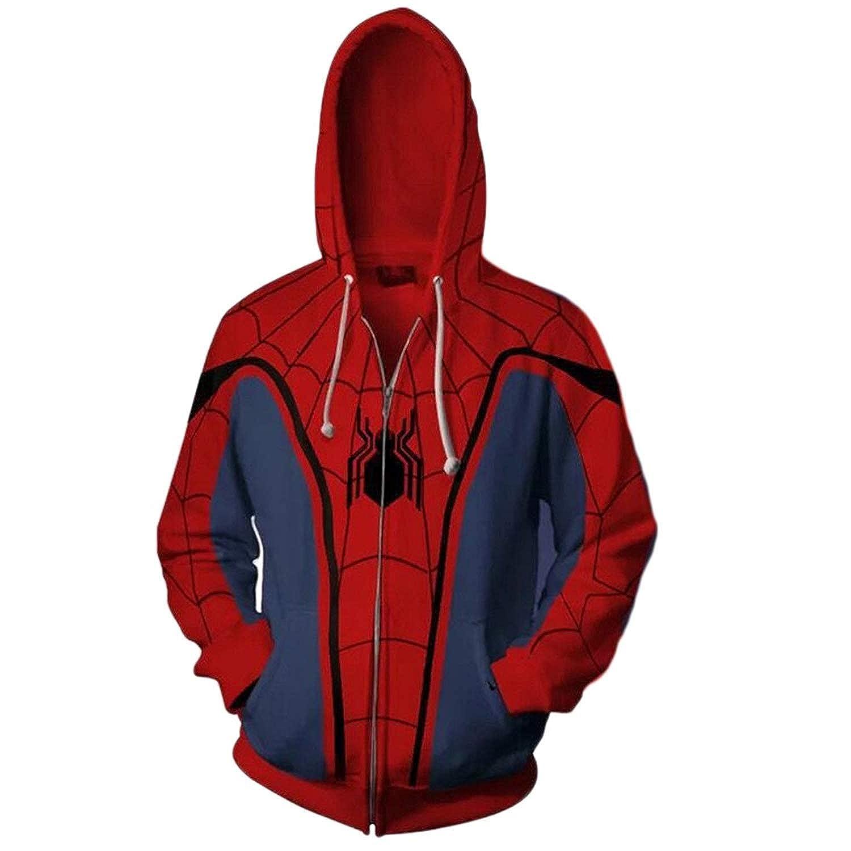 Koveinc Superhero Halloween Cosplay Costume Mens Hoodie Jacket