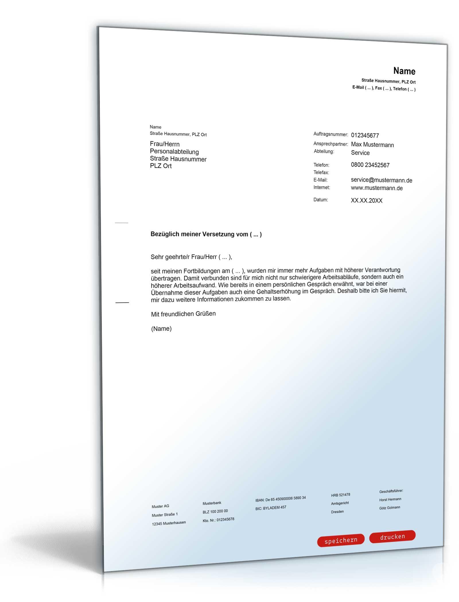 Anschreiben Mit Der Bitte Um Gehaltserhhung PDF Download