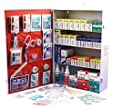 Rapid Care First Aid 80095 4 Shelf OSHA/ANSI First Aid Cabinet