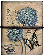 Lederen schrijfjournaal Notebook, MALEDEN Vintage Reiziger Notebook Schetsboek Klassieke navulbare dagboek planner voor meisjes en jongens met leeg papier en rits zak