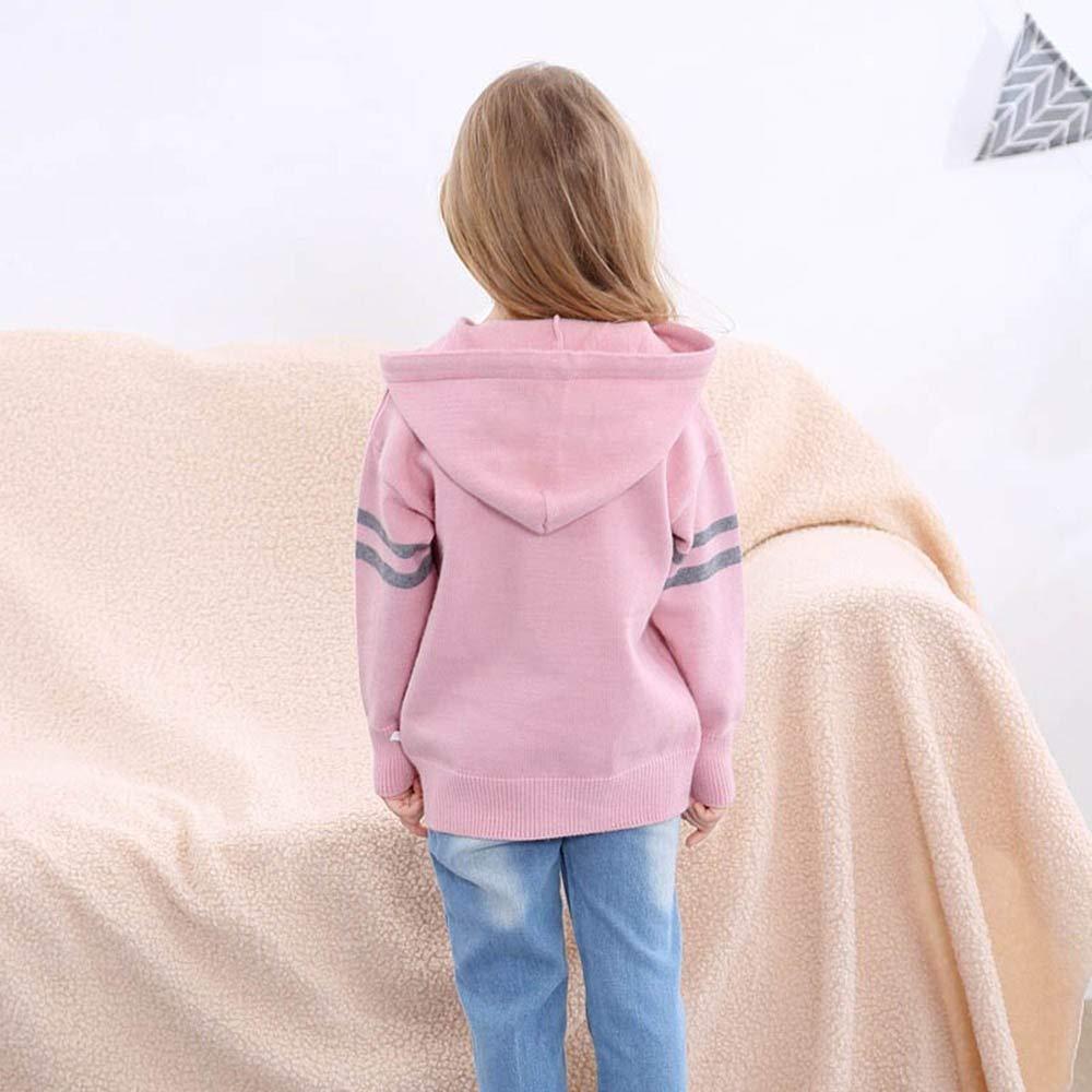 Pochers Kinder Baby M/ädchen Jungen Gestrickte Pullover Geometrie N/ähen Warme Tops Outfit Kleidung
