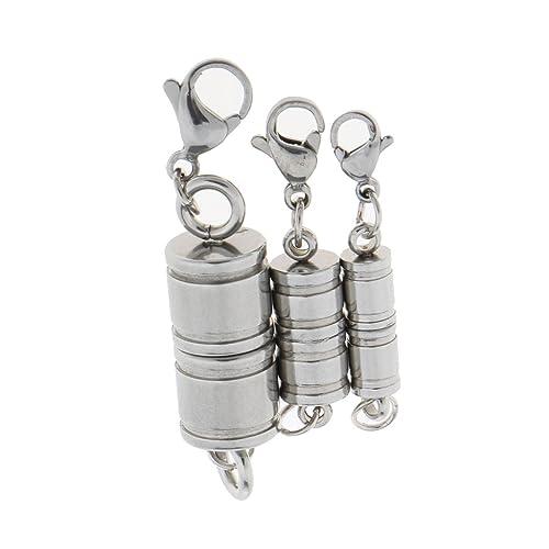 P Prettyia 6 Sets Magnetverschluss Karabinerverschluss Magnetische Schmuckverschl/üsse f/ür Schmuck Halskette Armband