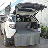 Pet Car Seat Cover Dog Car Back Seat Mat Waterproof Scratch Proof Nonslip Durable Machine Washable Convertible Hammock Cushion For Cars Trucks And Suvs,Gray