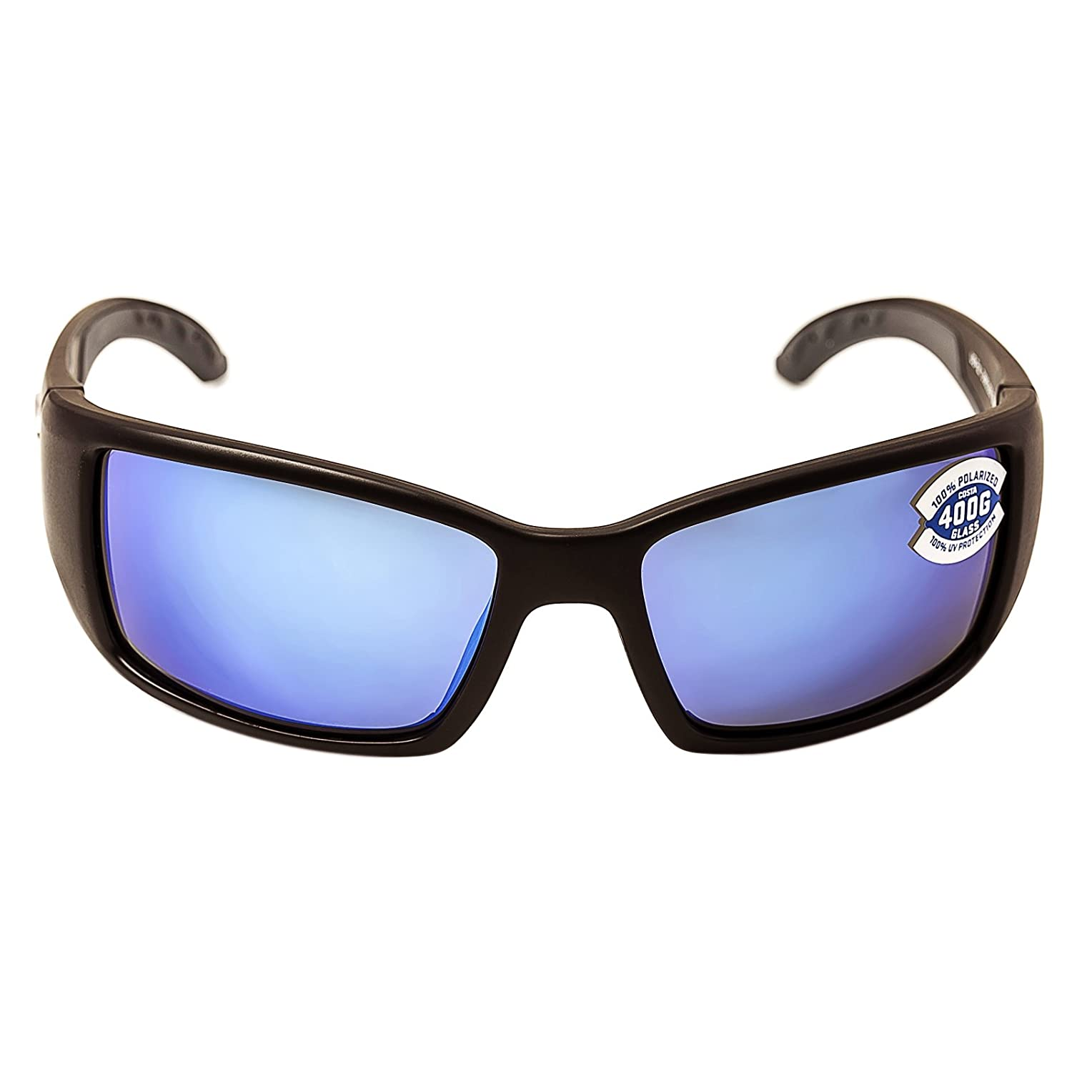528c2c390c Amazon.com  Costa Del Mar - Blackfin - Matte Black Frame-400 Blue Mirror  Glass Polarized Lenses  Clothing
