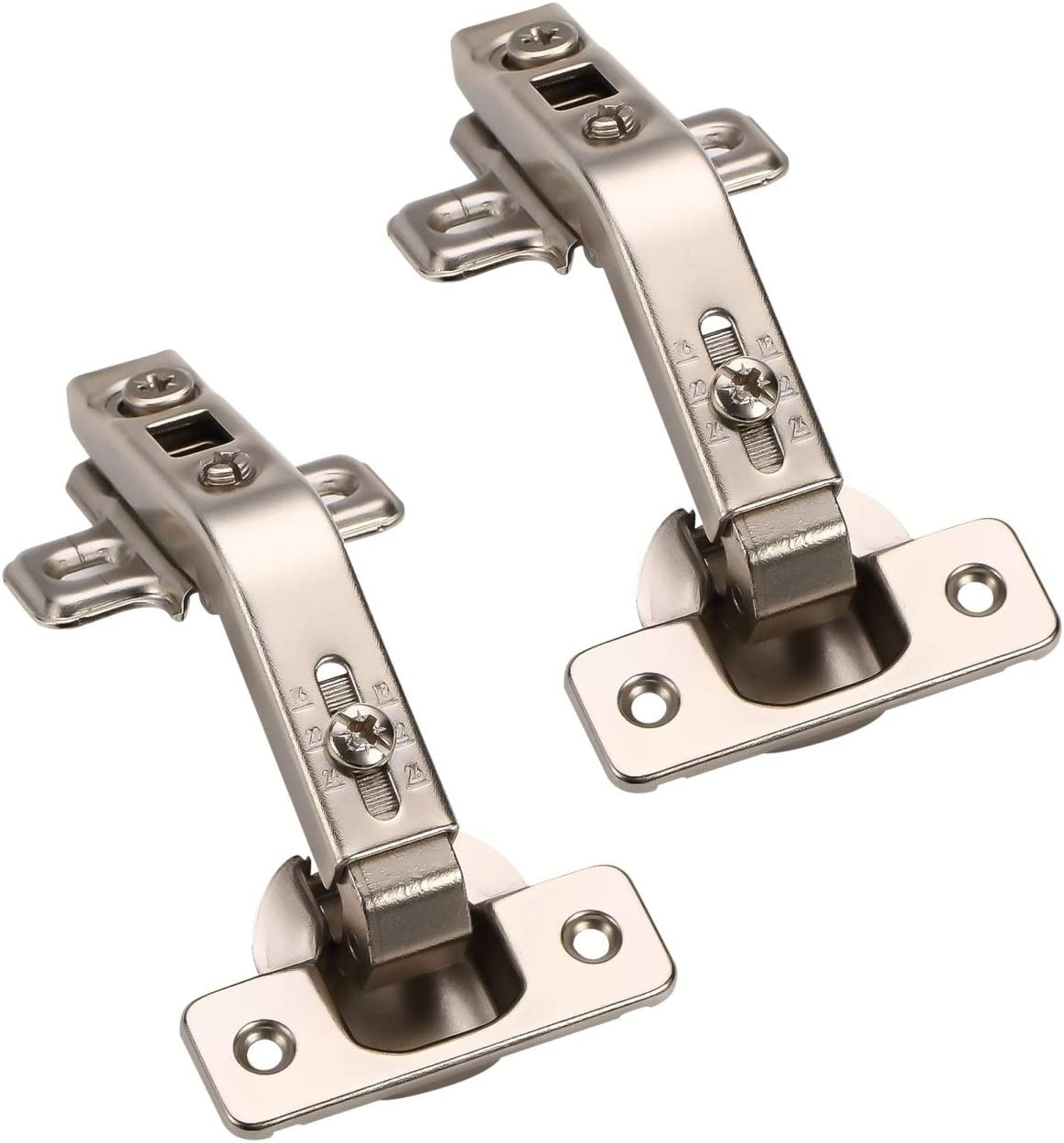 Furniware 1 Pair 135 Degree Lazy Susan Hinges,Full Overlay Concealed for Cabinet,Cupboard,Folded Door,Combination with Screws(Regular)
