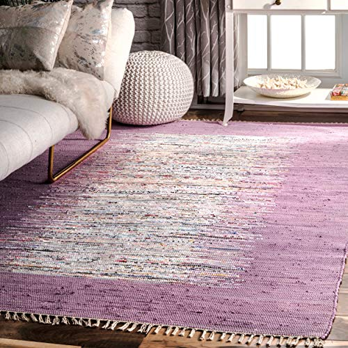 nuLOOM Madison Collection Contemporary Hand Made Area Rug, 8-Feet by 10-Feet, Lavender