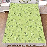 Bed Skirt Dust Ruffle Bed Wrap 3D Print,Kids Boys Spring Season Inspiration Image,Fashion Personality Customization adds Color to Your Bedroom. by 94.5''x102.3''