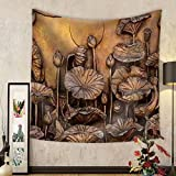 Niasjnfu Chen Custom tapestry Low Relief Cement Thai Style Handcraft of Buddhism Philosophy - Fabric Wall Tapestry Home Decor