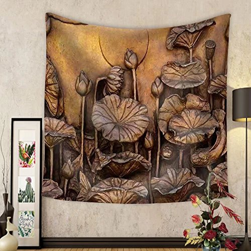 Niasjnfu Chen Custom tapestry Low Relief Cement Thai Style Handcraft of Buddhism Philosophy - Fabric Wall Tapestry Home Decor by Niasjnfu Chen