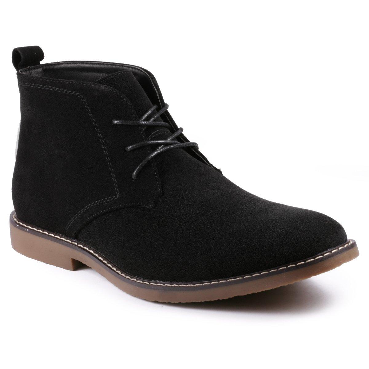 Metrocharm MC127 Men's Lace up Casual Fashion Ankle Chukka Boots (9 D(M) US, Black)