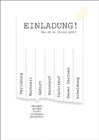 Schön Coole Einladungskarte Zum Ankreuzen Mit Folio Stift Einladung! Was Es Zu  Feiern Gibt? Verlobung