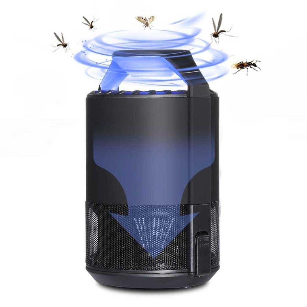 Stheanoo Mosquito Zapper Multiband Frequency Conversion USB Mosquito Trap Fly Bug Mosquito Killer LED Light Trap Lamp Insect Pest Zapper for Indoor Bedroom Apartment Flying Insect Catcher
