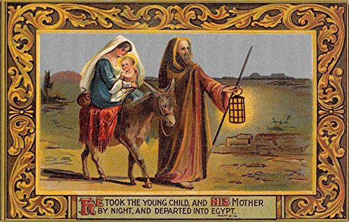 Group Of 6 Jesus Birth Mary Joseph Religion Christmas Antique Postcards K63101