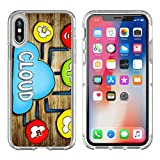 Luxlady Apple iPhone X Clear case Soft TPU Rubber Silicone Bumper Snap Cases iPhoneX IMAGE ID: 34402076 Aerial View of People and Cloud Computing Concepts