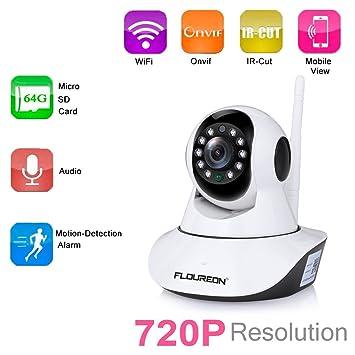 Floureon N5810HH 720P videocámara IP Cámara sin cables Wi-Fi ...