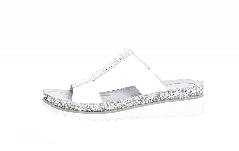 Gabor Mujeres Zapatos Abiertos Plata, (Weiss/Ice(Glitter)) 83.720.21 40 EU weiss/ice(Glitter)