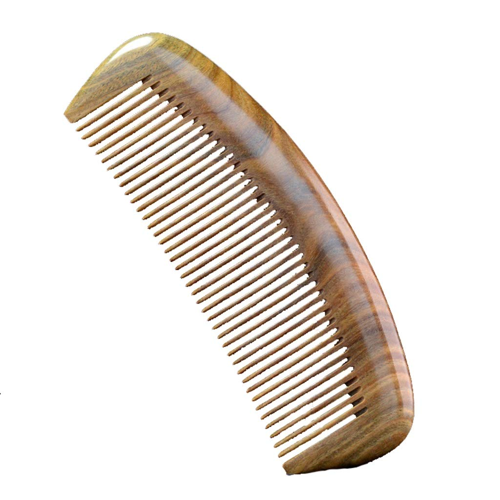 Comb Green Sandalwood Wood Natural Massage Anti-Static Hair Care by Comb