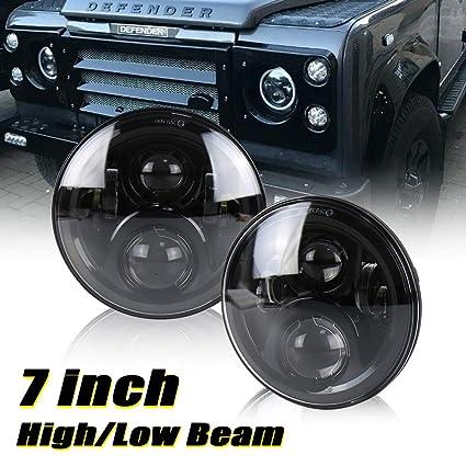 Defender - Faros delanteros LED de conducción de 7 pulgadas - Faro ...