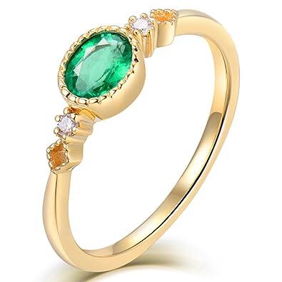 ddf21eb5a767f Lanmi Jewelry Sets Vintage 18K Yellow Gold Natural Diamond Green ...