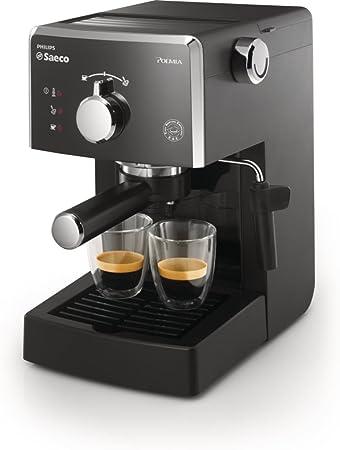 Saeco HD8323/01 - Cafetera Saeco Poemia espresso manual negra ,950W,con Café molido y Easy Serving Espresso (E.S.E.),Bomba de 15 bares, filtro a presión para crema, soporte para taza: Amazon.es: Hogar