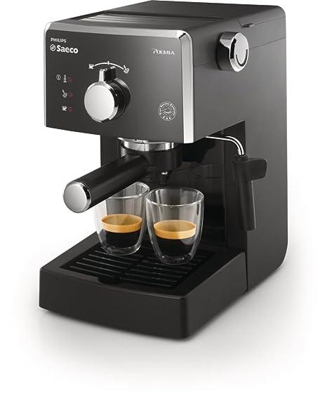Saeco HD8323/01 - Cafetera Saeco Poemia espresso manual negra ,950W,con Café