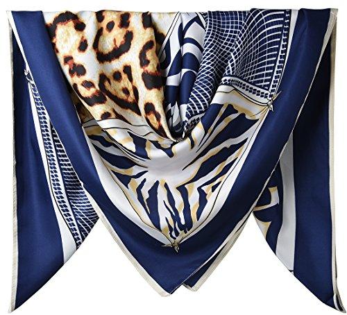 Satin Leopard Blue (40