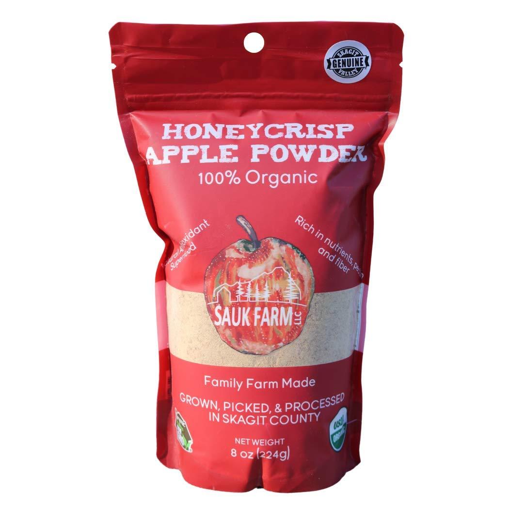 Sauk Farm LLC Honeycrisp Apple Powder, Certified Organic, Vegan, 8 Ounce