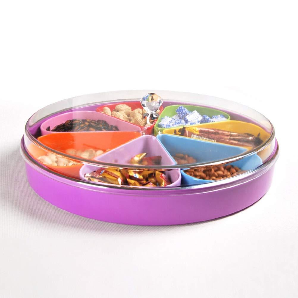 XL_FRUIT ふた、居間の軽食キャンデーのギフトのフルーツの陳列台色7枚の花弁(37cm * 7.6cm)が付いているフルーツバスケットの創造的なT   B07RZJ6FQ3