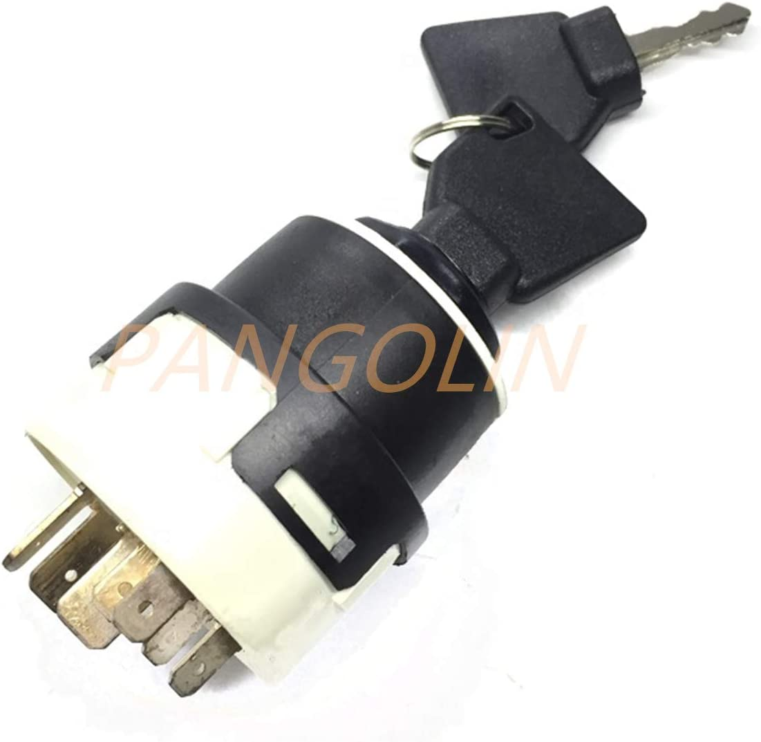 701//80184 701-80184 701-45500 Ignition Switch with 9 pins for 701//45500 JCB JCB200 JCB220 Excavator Spare Parts 2 keys