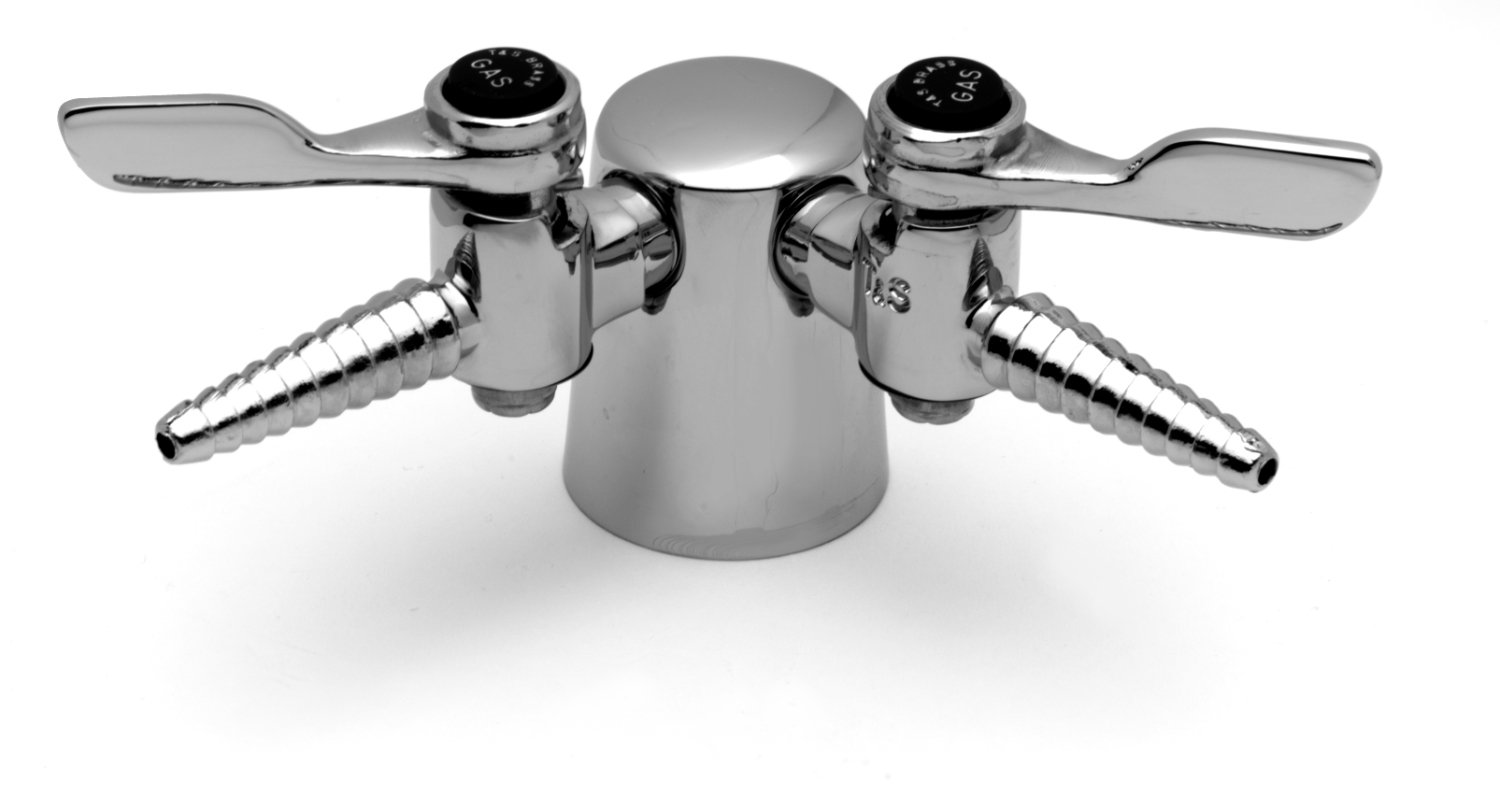 T&S Brass BL-4200-0 Lab Turret, Tapered  with Two 90-Degree Hose Cocks