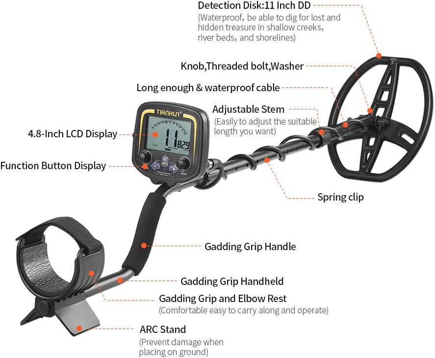 KKmoon Underground Metal Detector Portable Easy Installation High Sensitivity Metal Detecting Tool with LCD Display