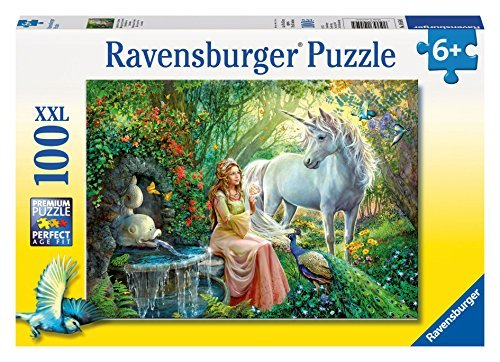 Ravensburger Princess and Unicorn Puzzle (100 Piece) by Ravensburger