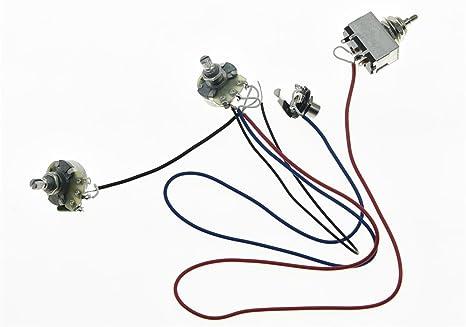 kaish LP precableado Cableado Arnés Alpha 500 K macetas de 24 mm 1 ...