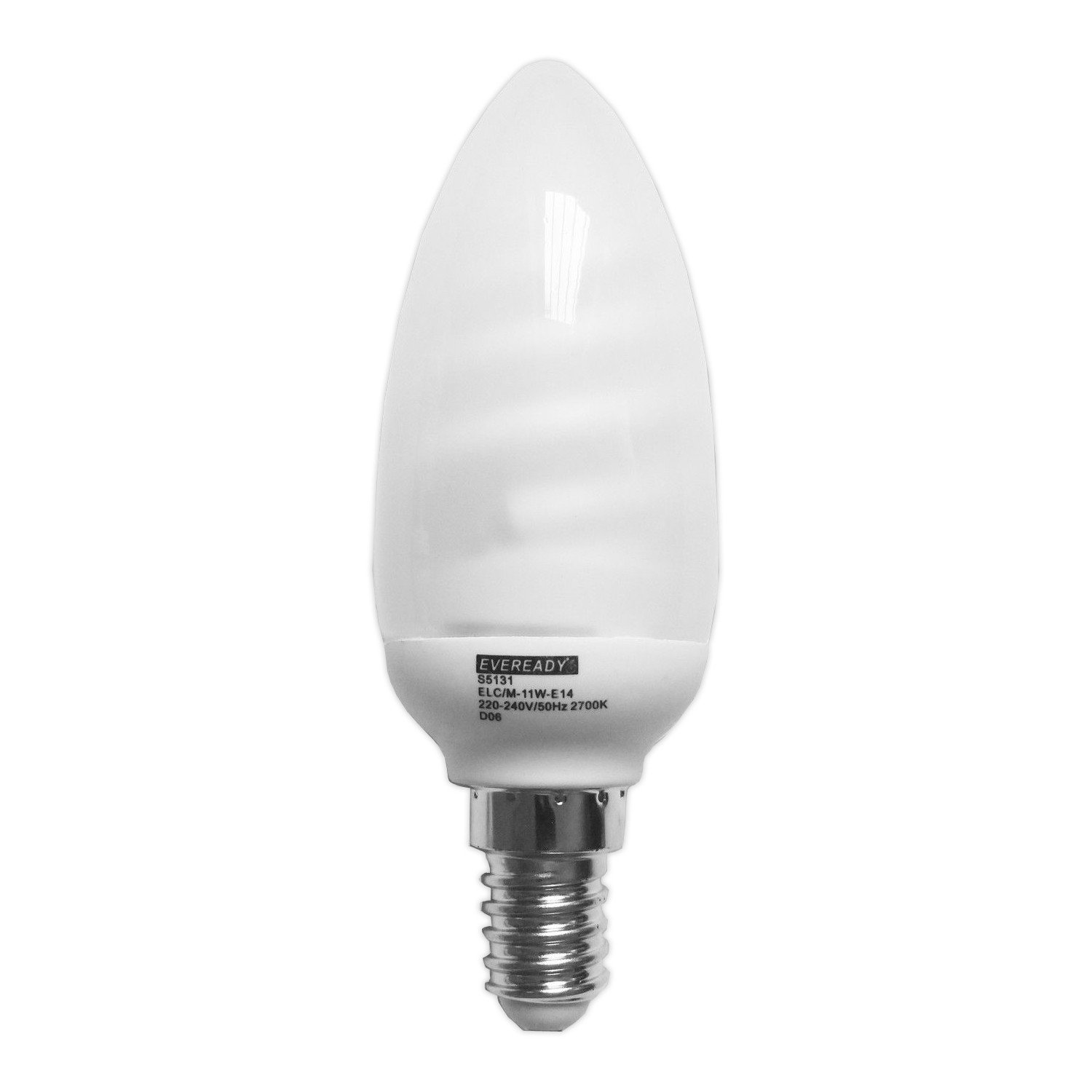 KOSNIC CANDLE DIMMABLE E14 CFL LAMPS WARM WHITE 2700K Pack of 5//10 DIM06CND