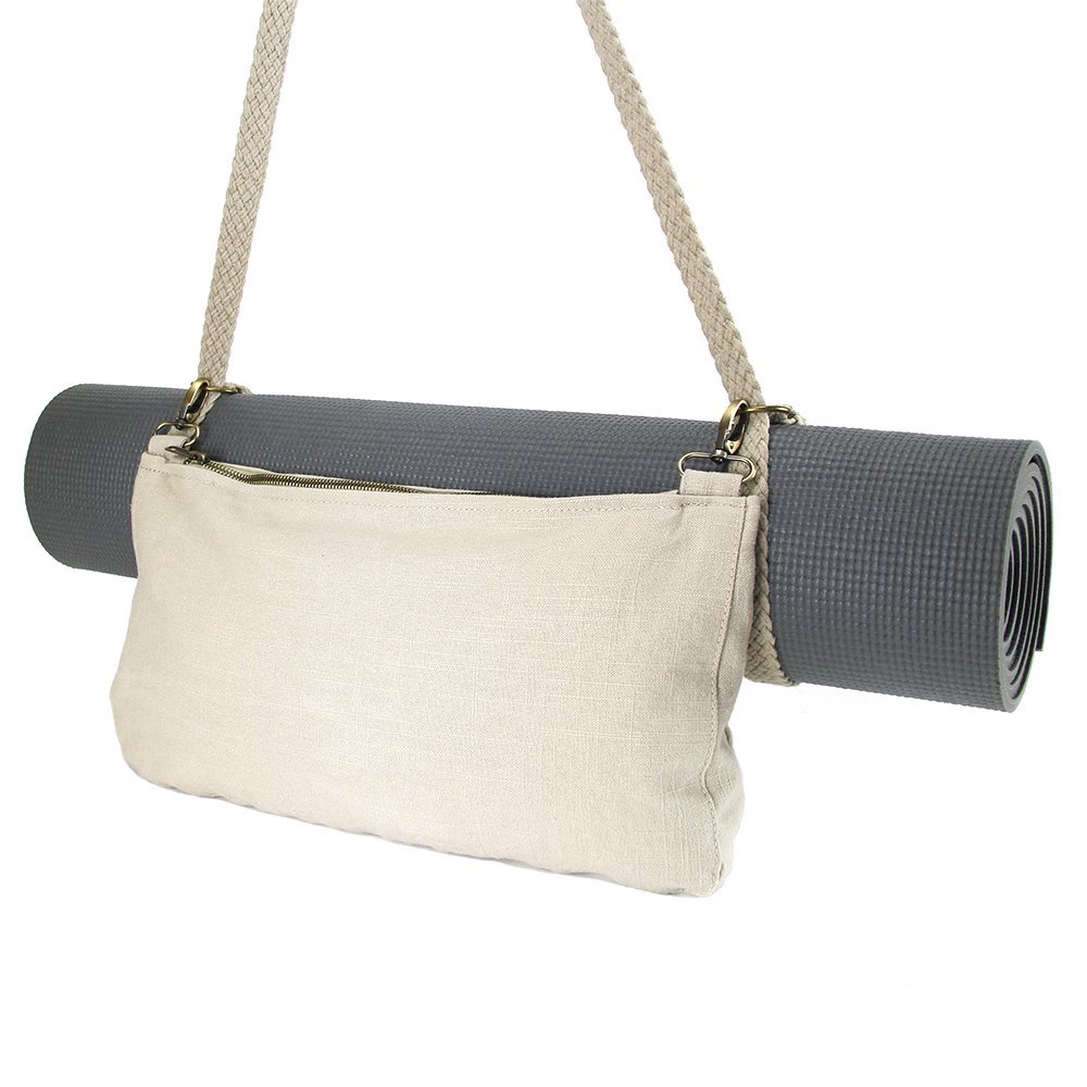 LUNA Yoga Strap Bag | Woven Natural