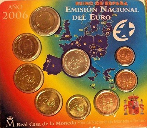 ES 2006 Spain 2006 Official Euro Set 8 Coins Token Specia Good